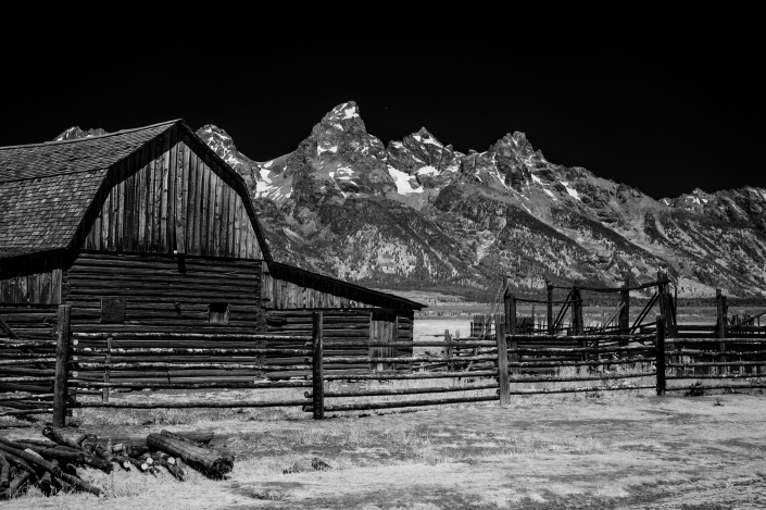 Black and white infrared fine art photograph