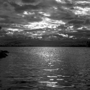 Fine art ocean side photography, black and white infrared